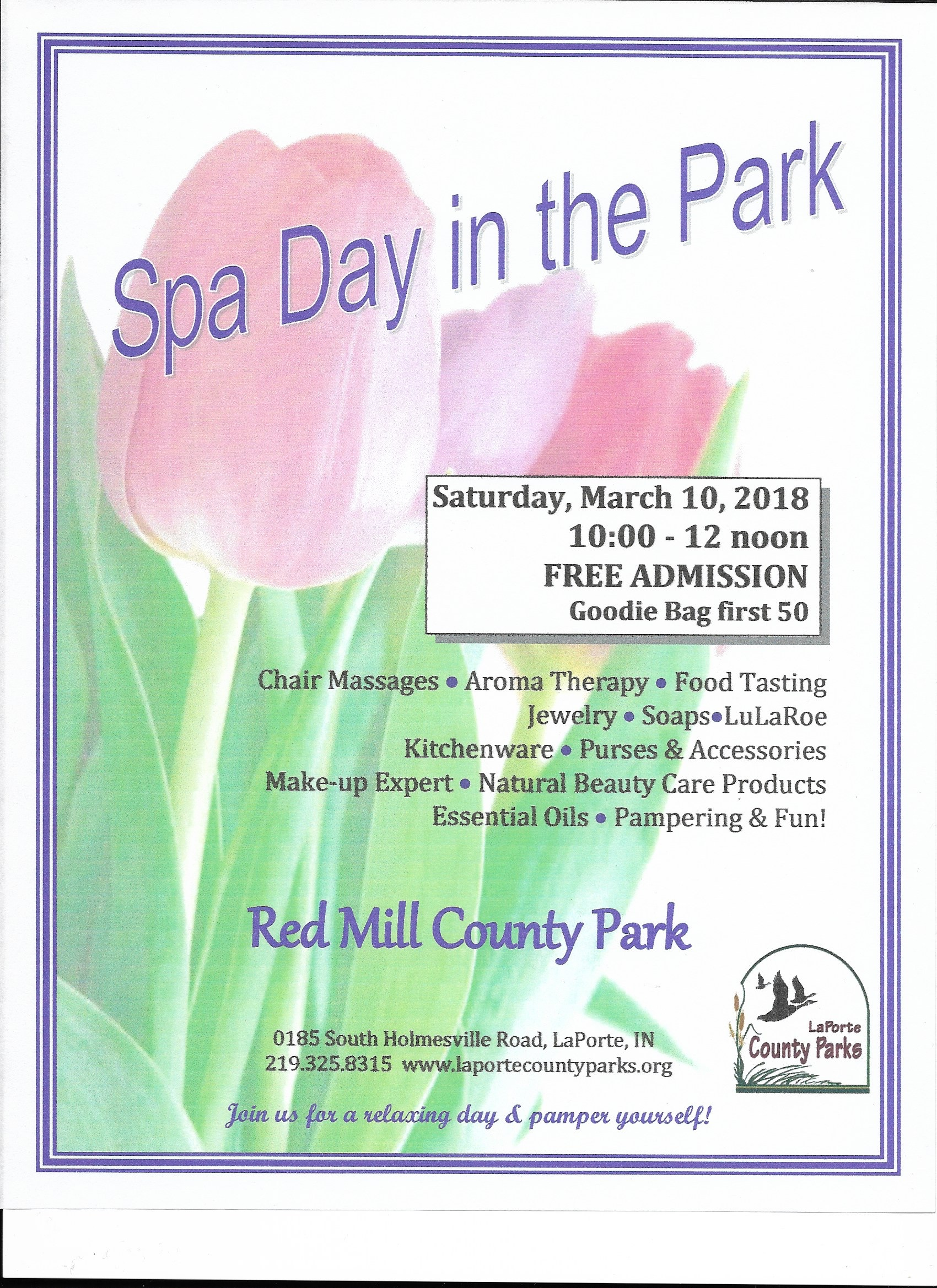 Spa day flyer 3 10 18 beach glass passion for 3 day spa